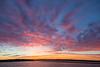 Sky before sunrise over the Moose River at Moosonee, Ontario.