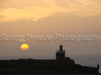sunset at El Morro Ol San Juan, May 2012