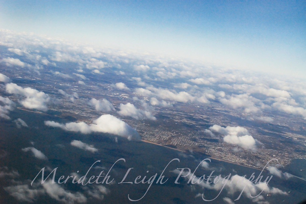 The view from somewhere over New York City