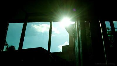 Peeping sun