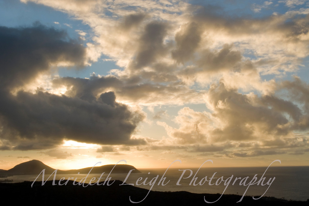Sunrise from Diamond Head, Honolulu