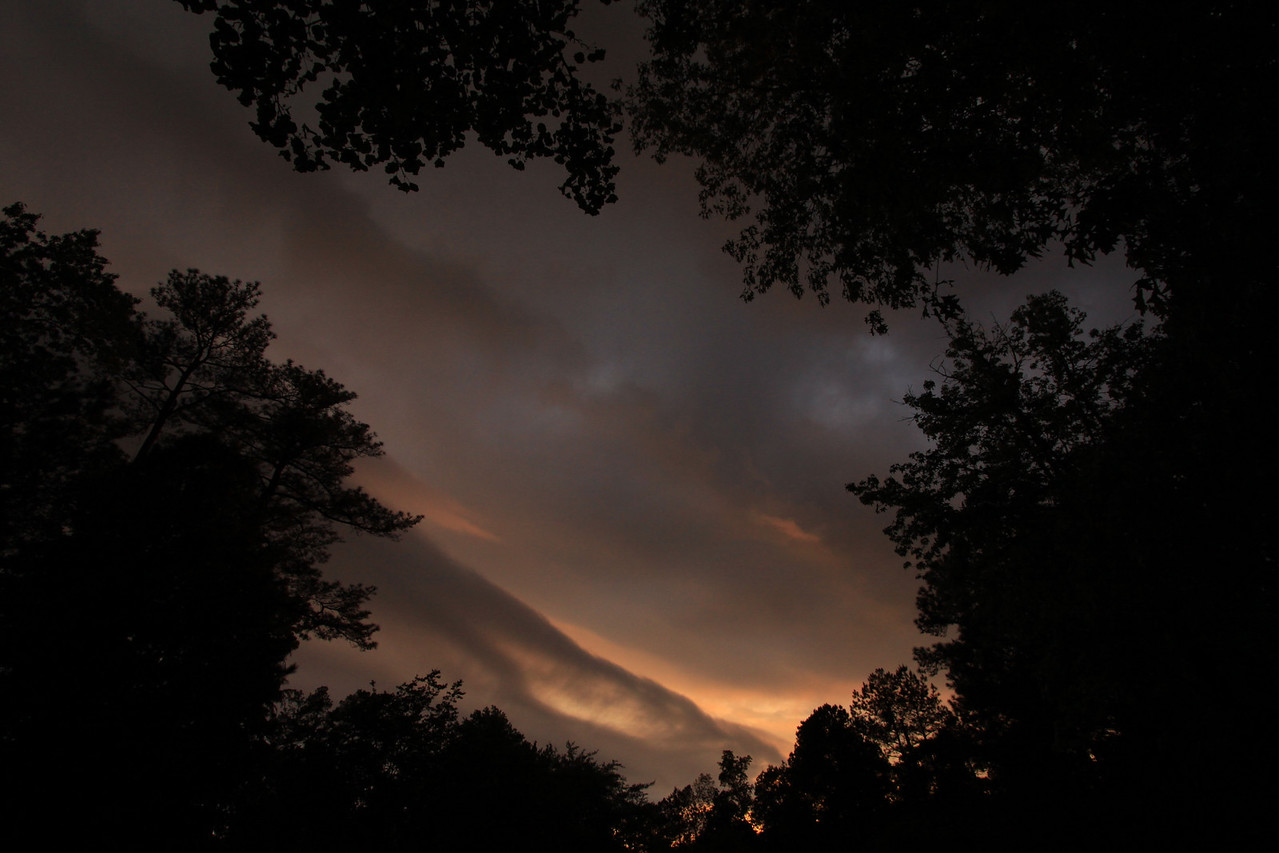 We had thunder storms today then as dusk was approaching the sky was performing.