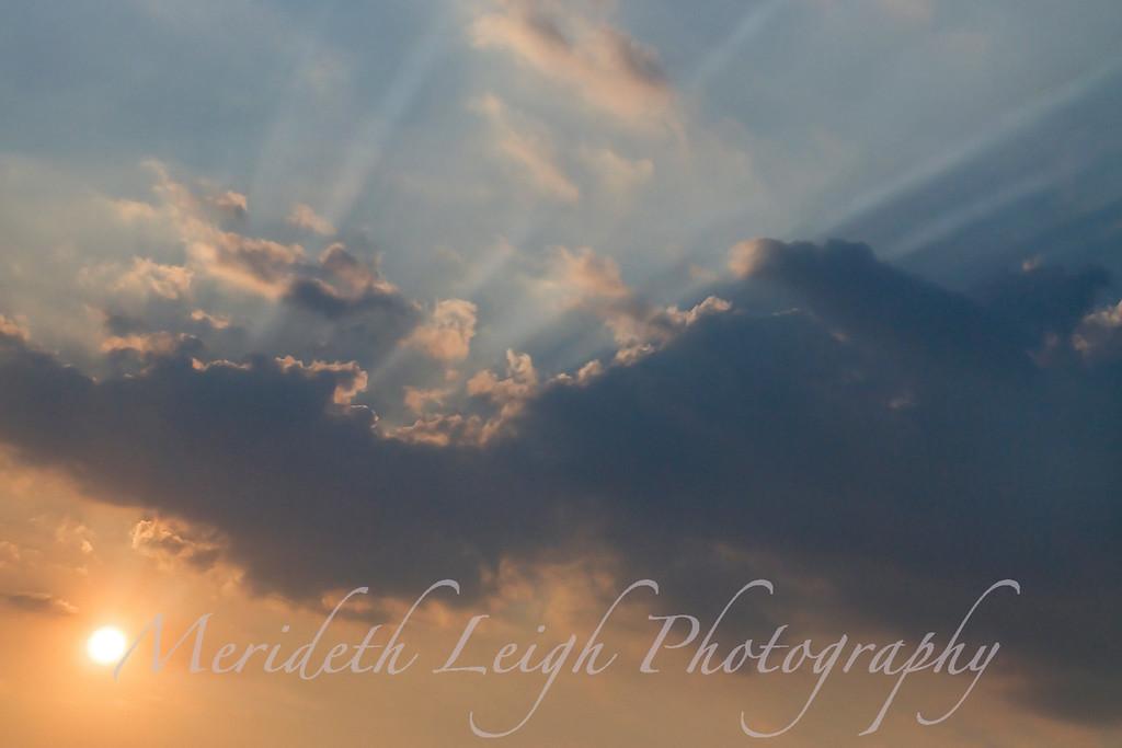 Sunset Rays.  Pittsburgh, Pa.