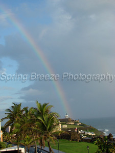 Rainbow over El Morro Old San Juan May 2012