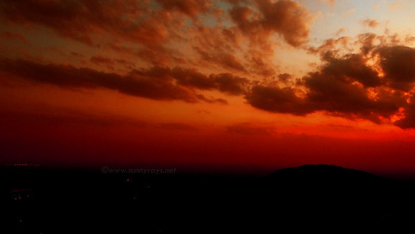 Sunset @Nandi Hills
