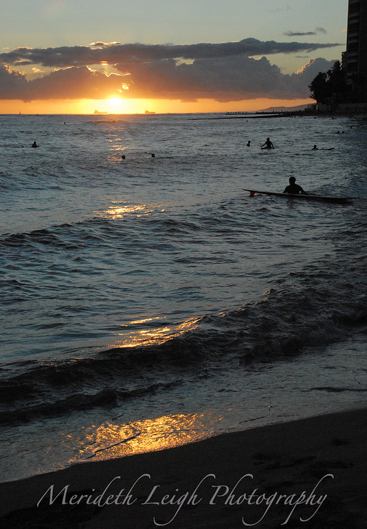 Sunset at Waikiki Beach.  September 6th, 2008.