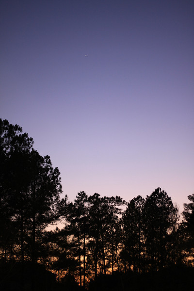 Day 18 365 Project (018/365) a peak at Jupiter and a non-rained out sunset