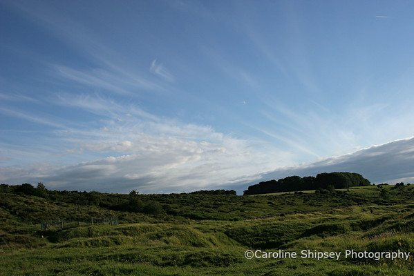 Early evening sky at Charterhouse, Mendip Hills