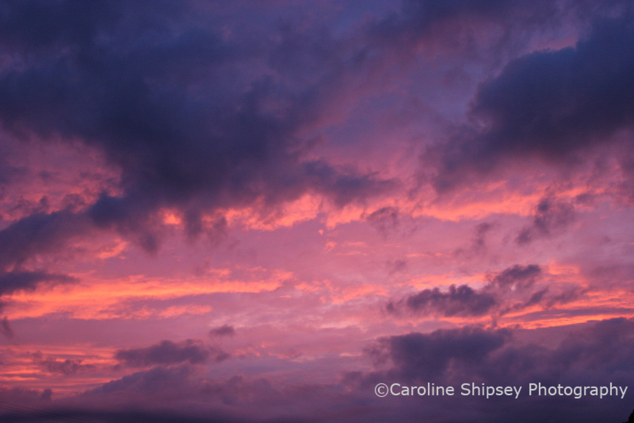 6 mins after sunset, Mendip Hills Skyscapes