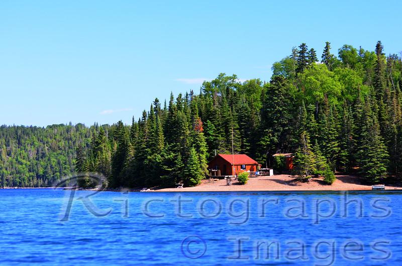 Lake Superior National Marine Conservation Area, Ontario, Canada.  The Come & Rest, McColl Island, Slate Islands, Lake Superior