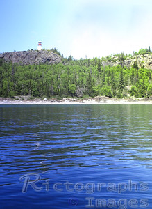 Light house on the Slate Islands Waters and Waves Sculpting the North Shore of Lake Superior