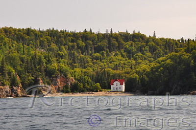 Lighthouse Keepers House.  Slate Islands. Waters and Waves Sculpting the North Shore of Lake Superior