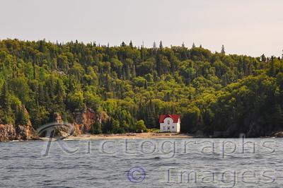 The Slate Islands Lighthouse Keepers' House.