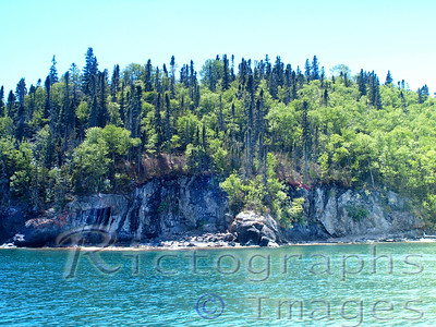 Rocky  Shoreline Slate Islands Waters and Waves Sculpting the North Shore of Lake Superior