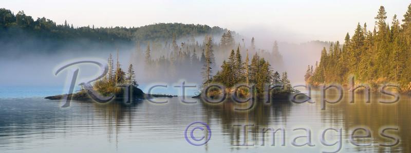 foggy lake Superior, Slate Islands, Lake Superior National Marine Conservation Area,
