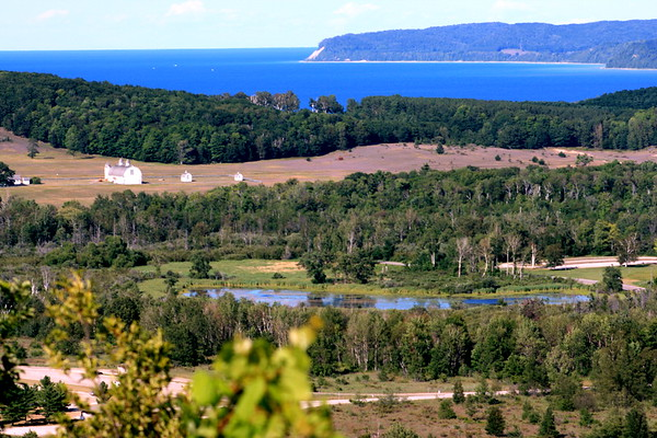 View from sand dune over Lake Michigan - Sleeping Bear Dunes