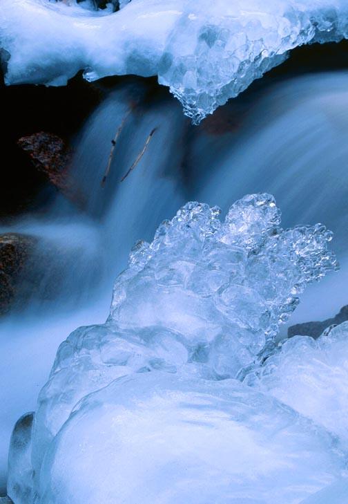 (B023) Ice detail - N. Cheyenne Creek, Colorado