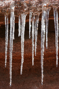 Icicles in Garden of the Gods - morning