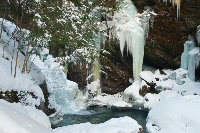 Winter at Bingham Falls