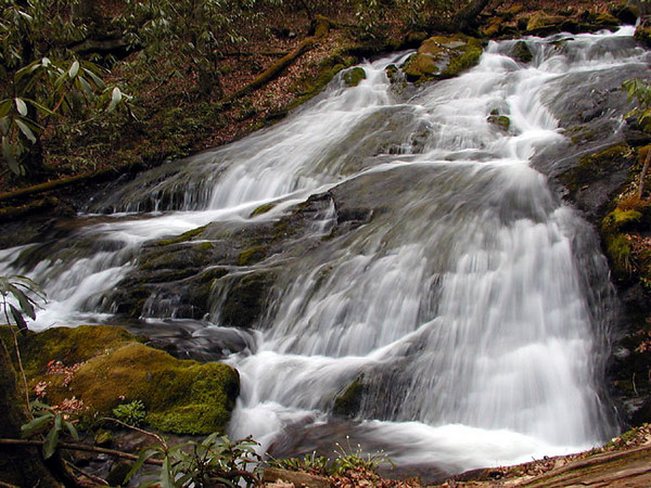 Chasteen Creek Cascade <br /> GSMNP April 13, 2007