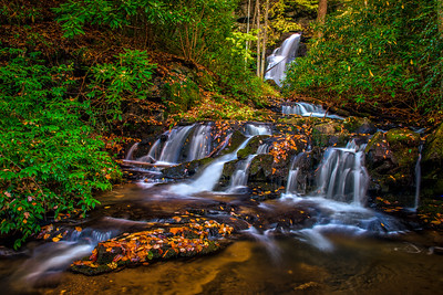 Mannis Branch Falls in the Smokey Mountains