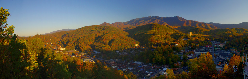 Gatlinburg pano taken from the top of the Skylift.