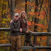Peak fall colors in the Cataloochee area of the park