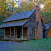 Preserved cabin in Cades Cove
