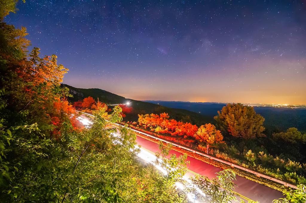 linn cove viaduct in blue ridge mountains