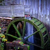 Closeup of the mill wheel