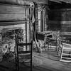 Meager furnishings in the old cabin