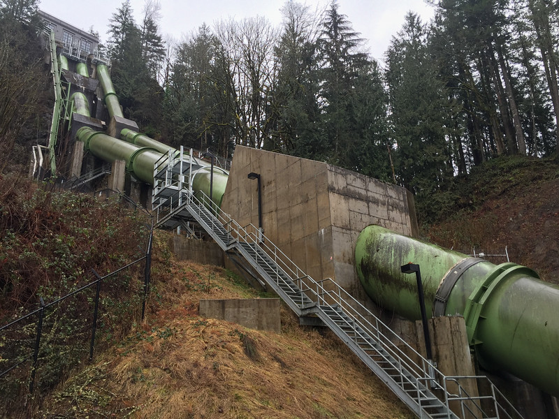 Snoqualmie Falls Power Plant Two penstocks