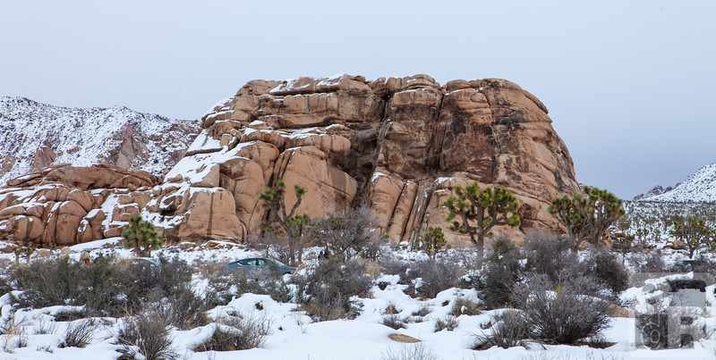Cyclops Rock with Snow