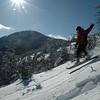 Cardigan ski trip; Jeff enjoying the powder.