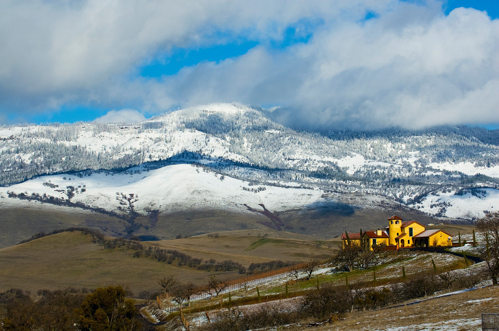 Light Snow & House