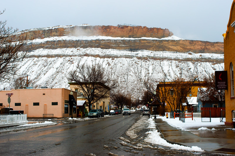 Palisade & Mountain
