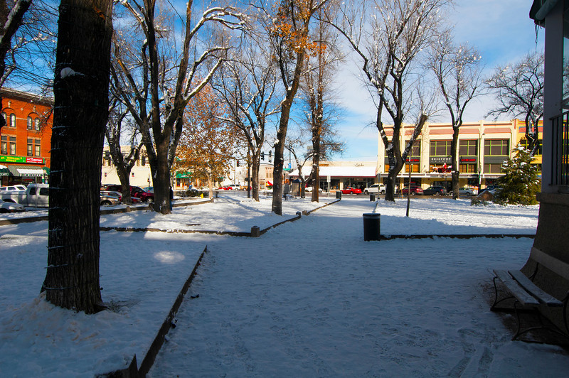 Courthouse Square Snow