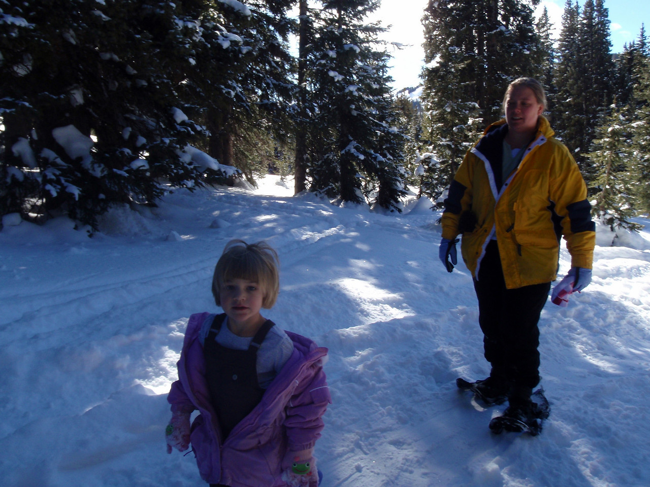 Snowshoeing on Lobo Overlook Trail, Wolf Creek Pass