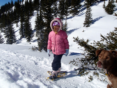 Snowshoeing on Lobo Overlook Trail, Wolf Creek Pass