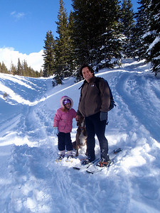 Snowhoeing on Lobo Overlook Trail, Wolf Creek Pass