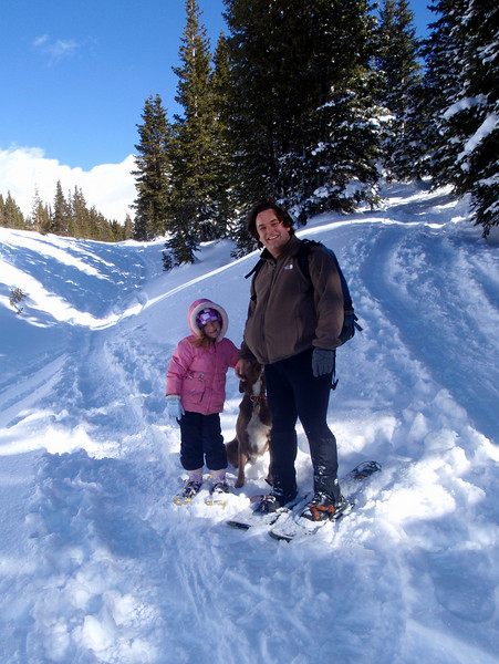 Snowhoeing on Lobo Overlook Trail, Wolf Creek Pass