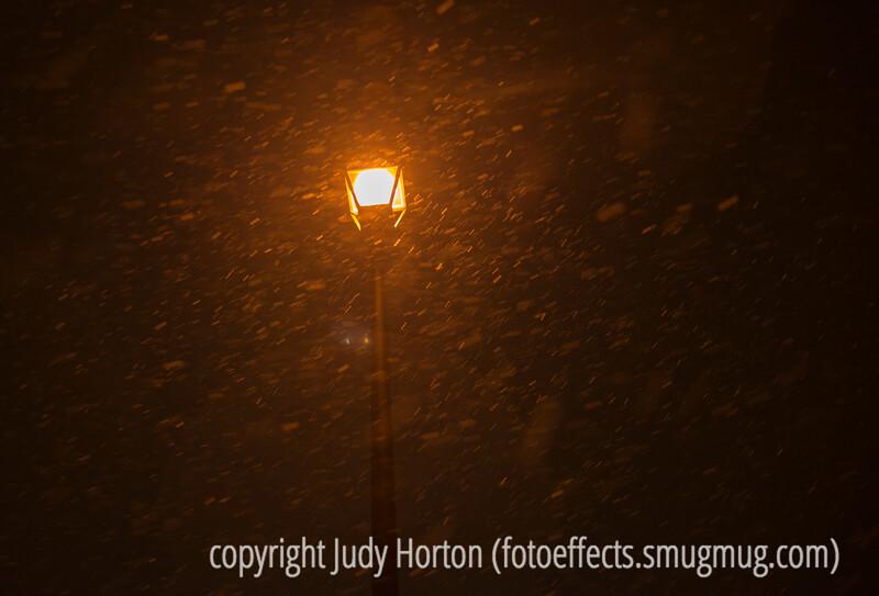 Snow Around the Street Light