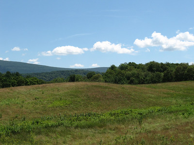 July 24, Shaftsbury, Vermont.  I really like the lines of the hills and mountains in this.