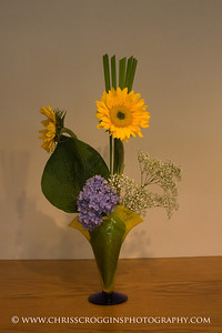 Sogetsu Ikebana flower arrangement by Audrey Erickson.