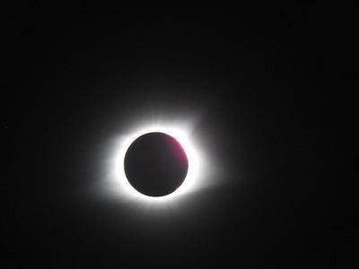 Totality began at 1:16 p.m. CDT.