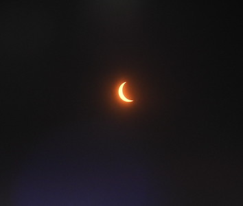 Eclipse continues, from the prairie