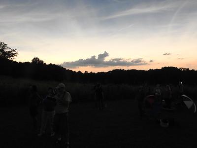 Light similar to post-sunset, evening twilight