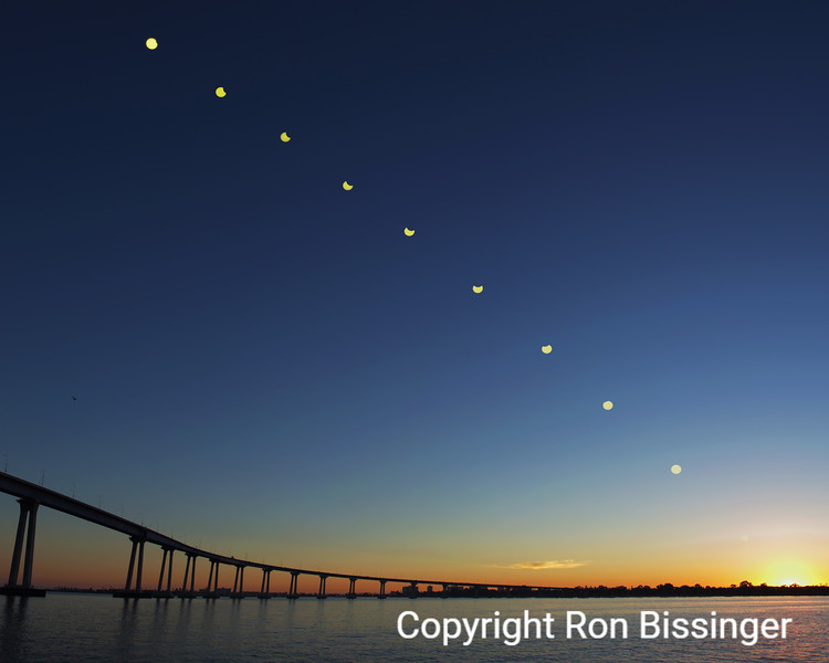 Solar Eclipse over Coronado Bridge