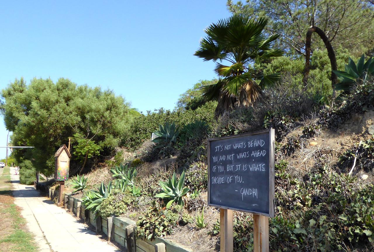 Gandhi-it is whats inside of you Hike on Bikepath 151020