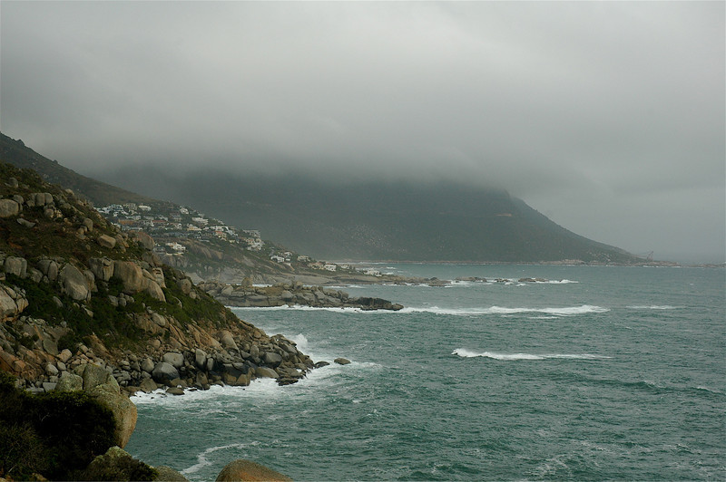 The rocky shores of the Cape Peninsula